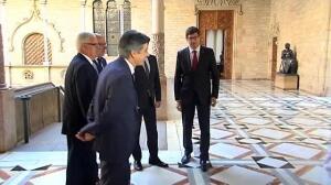Puigdemont se reunía con el fiscal general del Estado en el Palau de la Generalitat