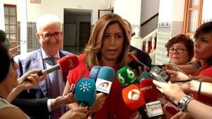 """Susana Díaz: """"Los socialistas andaluces vamos a arrimar el hombro y ayudar a Pedro"""""""