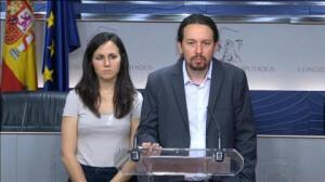 """Pablo Iglesias: """"Seguro que a sus militantes les gustaría ver al PSOE con nosotros contra el CETA"""""""