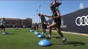 El Madrid ya entrena sin Morata