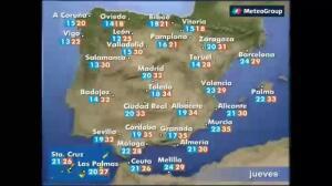 Previsión del tiempo para este jueves 20 de julio