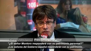 """Puigdemont: """"¿Montoro responderá con su patrimonio personal por la amnistía ilegal?"""""""