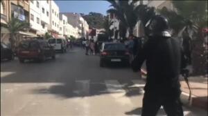 La policía marroquí emplea gas lacrimógeno para dispersar las protestas en Alhucemas