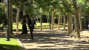 Rajoy recibe a Garbiñe Muguruza en Moncloa