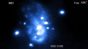 Un agujero negro supermasivo incapaz de engullir a su galaxia vecina