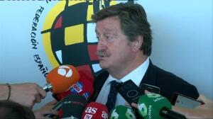 """El nuevo presidente de la RFEF: """"A mí Villar no me ha defraudado, pero será la Justicia la que decida"""""""