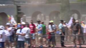Huelga de taxistas contra el exceso de licencias VTC