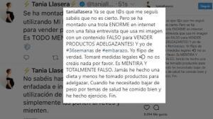 Tania Llasera, enfadada por una estafa con su imagen