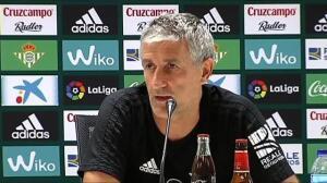 """Quique Setién: """"Si no está Suárez, intentaremos aprovecharlo"""""""