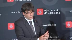 """Puigdemont: """"Nos querían de rodillas en Las Ramblas y nos hemos levantado muy alto"""""""