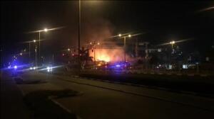 Se incendia un edificio en construcción en Dubái