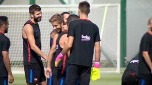 Sesión de recuperación en el FC Barcelona