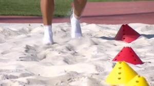 Luis Suárez se recupera de su lesión en la arena