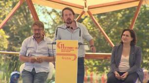 Iglesias llama a ERC y PSOE a pactar para echar al PP