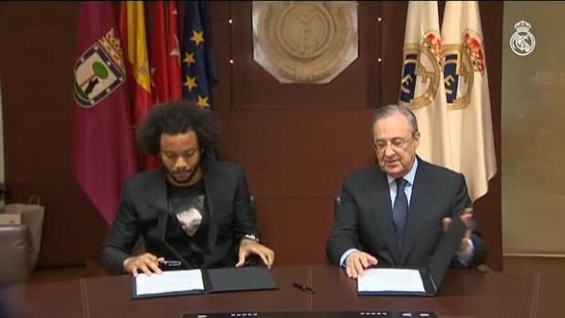 Marcelo renueva con el Real Madrid hasta 2022