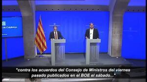 """Junqueras declara """"suspendida"""" la intervención económica de Montoro por el recurso ante el TS"""