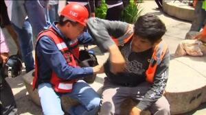 Pánico y caos en las calles de México DF tras el terremoto