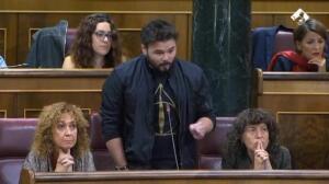 """Rufián:""""Saque sus sucias manos de instituciones catalanas"""""""