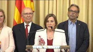 """Forcadell: """"Hoy se han atacado las instituciones y la dignidad de Cataluña"""""""