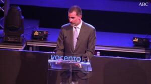 El Rey destaca la «tarea clave» de Vocento «al servicio de nuestros sólidos principios democráticos»