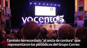 Los Reyes presiden el acto conmemorativo del 15 aniversario de Vocento