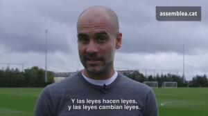 "Guardiola: ""Esto no va de independencia, va de democracia"""
