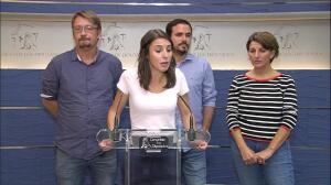 "Unidos Podemos avisa al PSOE: ""No caben medias tintas"""