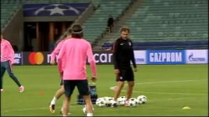 El Atlético de Madrid, preparado para asaltar Bakú
