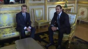 Saad Hariri se reúne con Emmanuel Macron en París