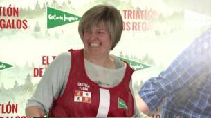 Marta Hazas, concursante solidaria del triatlón de los regalos de El Corte Inglés