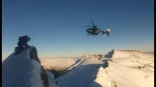 El increíble rescate de un escalador en Sierra Nevada
