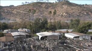 Los incendios de California reducen a cenizas un barrio entero