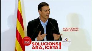 "Sánchez asegura que con Iceta ""Cataluña será gobernada a ritmo de justicia social, diálogo y concordia"""