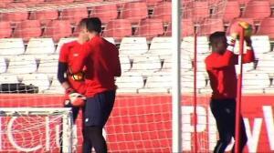 El Sevilla prepara su enfrentamiento liguero contra el Espanyol