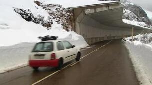 Problemas en las carreteras de Cantabria por el temporal