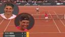 El puntazo de Nadal que dejó a Federer y al español partiéndose de risa