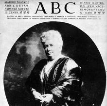 Al día siguiente de su muerte, ABC dedicó su portada a la Infanta Isabel, más conocida con el sobrenombre de «la Chata». 24 de abril de 1931