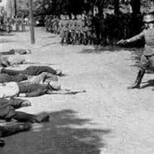 Ejecución de soldados griegos en Cefalonia, en 1943
