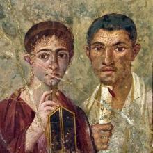 Retrato de una pareja hallado en una casa de Pompeya