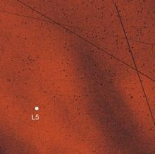La posición del punto L5 se muestra con un punto blanco