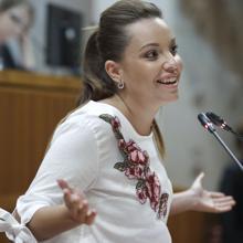 Maru Díaz, actual portavoz de Podemos en las Cortes, será la candidata de este partido a la Presidencia del Gobierno aragonés en las elecciones de mayo